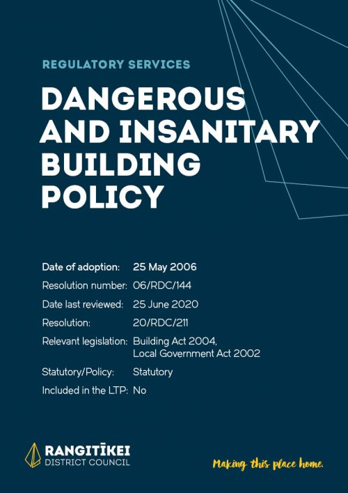Dangerous and Insanitary Building Policy