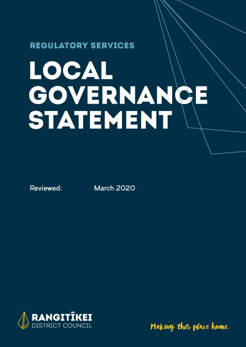Local Governance Statement 2020 Cover Image