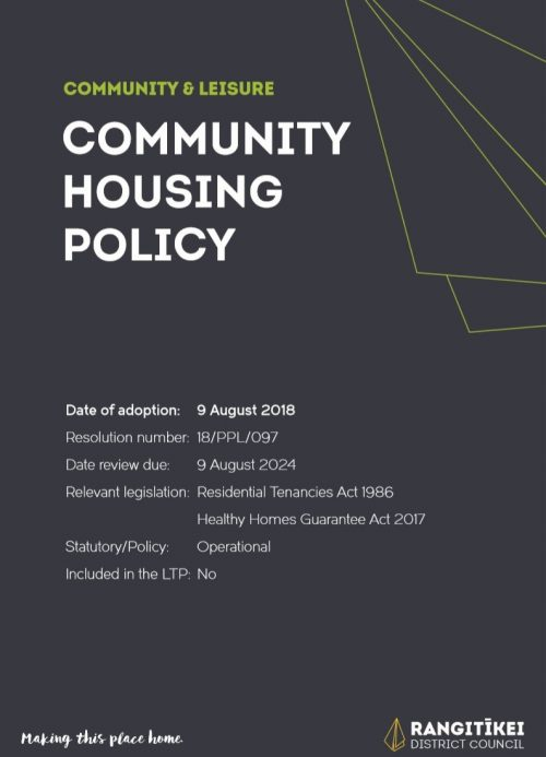 Community Housing Policy 2018