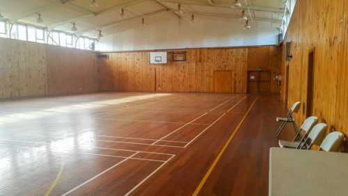 Inside Marton Memorial Hall