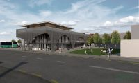 Render of Bulls Community Centre Daytime