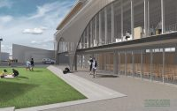 Render of Bulls Community Centre Square